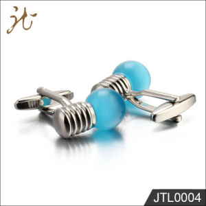 Fashion Nice Quality Blue Bulb Cuff Links for Gift pictures & photos