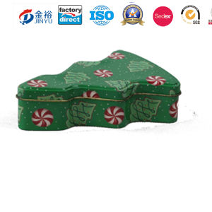 Custom Printed Christmas Tree Shape Metal Gift Packing Tin Box pictures & photos