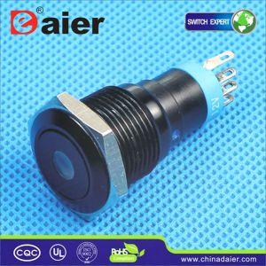 DOT Light Black 12volt 6pin Push Button Switch (LAS2-16F-11DA) pictures & photos