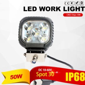 50W CREE LED Work Lamp (4800lm, IP68 Waterproof) pictures & photos