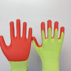 Foam Nitrile Coated Hppe Glass Fiber Gloves
