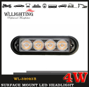 LED Lighthead Grille Light, Surface Mounted LED Headlight for Car and Truck Wl-52025b (LED-LIGHT-BAR 4W) pictures & photos