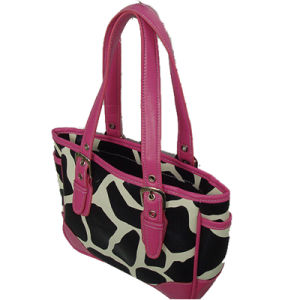 Fashion Zebra Pattern PU and Polyester Waterproof Handbag pictures & photos