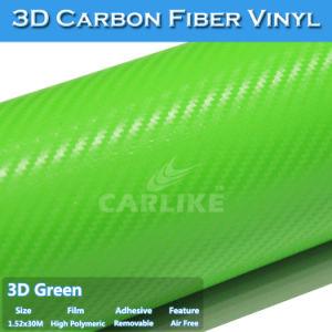 Lowest Price Green 3D Carbon Fiber Manufacturer Car Foil