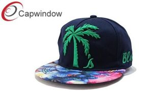 Fashionable Hip-Hop Floral Snapback Sports Hat with 3D Embroidery pictures & photos