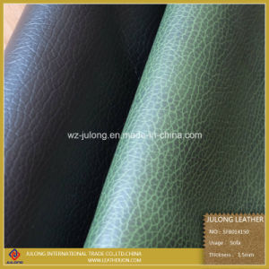 Embossed Semi-PU Sofa Leather (SFB014) pictures & photos