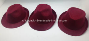 Wine Red Felt Hats for Festival with Different Shape (CPPH_014) pictures & photos