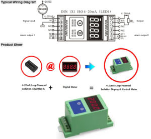 2-Wire 4-20mA Current Loop Digit Display Meter with 3kv Isolation pictures & photos