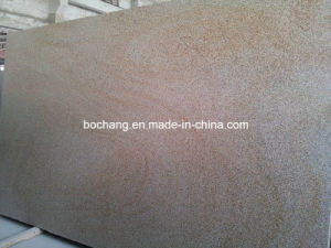 G682 Flamed Yellow Granite Stone Slab for Landscape pictures & photos