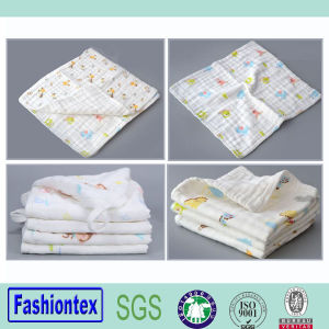 Wholesale Baby Muslin Custom Wash Towel Print Newborn Baby Towel pictures & photos