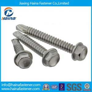 Hex Washer Head Self Drilling Screw with EPDM Bonded Washers pictures & photos