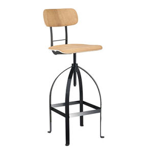 2016 Wholesale Metal Industrial Bar Stools with Wooden Back (FS-Scew14019D-2) pictures & photos