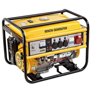 5kw Yellow Electric Gasoline Generator Three Phase Generator pictures & photos