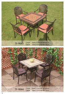 Patio Outdoor Passed SGS Modern Die Cast Aluminum Dining Set pictures & photos