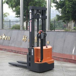 Hot Sale Hydraulic Lift Reach Electric Stacker for Sale (CDD12) pictures & photos