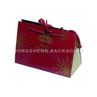 Paper Gift Packing Bag for Apparel/Garment/Shoes with String Closer