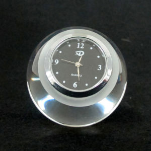 Clear Round Ball Crystal Glass Clock for Decoration pictures & photos