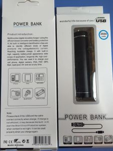 1500/1800/2000/2200/2600 mAh Cylinder Metal Case Mobile Power Bank Charger (PB-YD04) pictures & photos