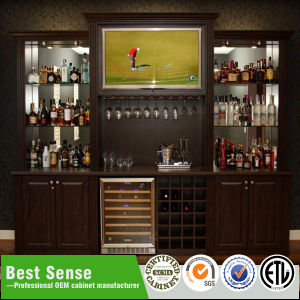 American Antique Real Wood Home Bar pictures & photos