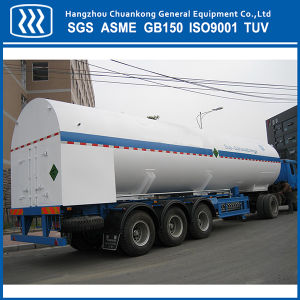 Liquid Oxygen Nitrogen Argon CO2 Gas Transport Semi Trailer Road Tanker pictures & photos