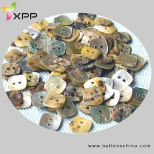 2h Square Agoya Natural Shell Button pictures & photos