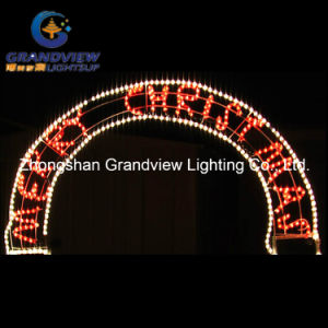 250cm Wide LED Santa Christmas Tree and Arch Door Motif Rope Lights pictures & photos