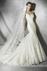 Sexy Mermaid Wedding Dresses Lace Tulle Bridal Gown W52204 pictures & photos