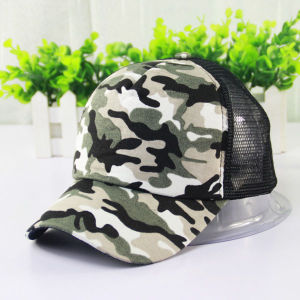 Fashion Camouflage Canvas Mesh Baseball Cap (YKY3038) pictures & photos