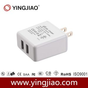 5V 3.1A 17W DC Double USB Travel Adapter pictures & photos