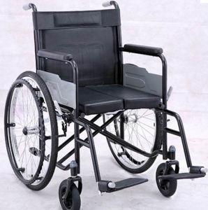 Cheap Top-Selling Manual Powder Coating Thicker Steel Frame Wheel Chairs pictures & photos