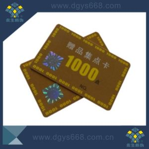 Anti-Fake Warranty PVC Card with Hot Stamping Sticker pictures & photos