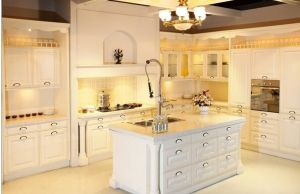 American Style Solid Wood White Kitchen Cabinet pictures & photos