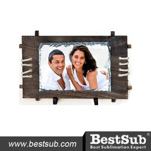 Bestsub Big Rectangle Photo Rock Slate with Wooden Frame (SBBH40) pictures & photos