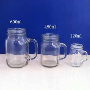 Beautiful Clear Mason Jar Glasses Fnt-75