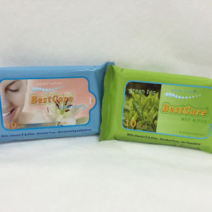 Antibacterial Wet Tissue Wet Wipes 10PCS Package pictures & photos