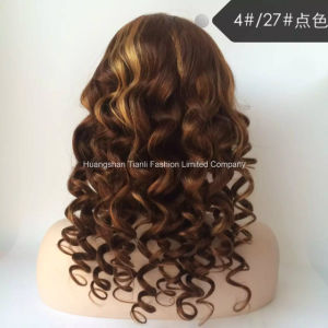 "7A Human Chinese Hair 24"" Bw Frontal Lace Wigs #4/#27"