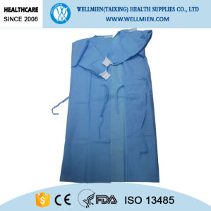 Disposable Sewing SMS/SMMS/Spunlace Surgical Gown pictures & photos