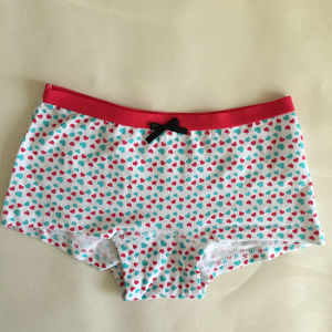 Lovely Printed Kids Boxer Cute Boknot Little Girl Underwear pictures & photos