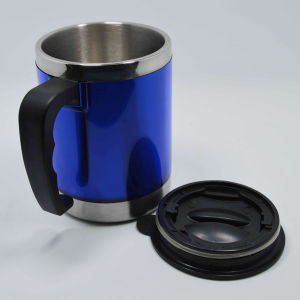 Plastic Coffee Mug Cup with Handle and Lid pictures & photos