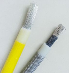 Heat Resistant Glass Fiber Braid Silicone Rubber Insulated Wire pictures & photos