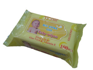 Baby Wipes 100CT with Fliptop (BW02) pictures & photos