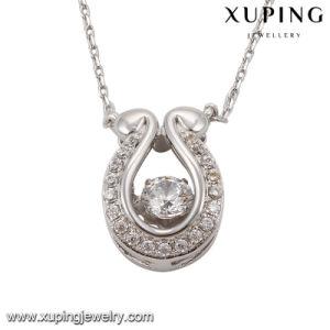 Necklace-00073 Fashion Elegant Rhodium Imitation Crystals From Swarovski Jewelry Pendant Necklace pictures & photos