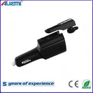 Handfree Business Style Car Charger with Wireless Bluetooth Headphone