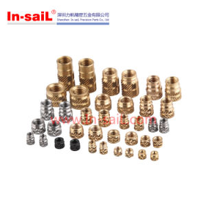 China Fastener Manufacturer RoHS Brass Knurled Threaded Insert Nuts for Plastic Box pictures & photos