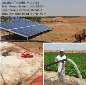 5.5HP Irrigation Solar Pumping System for Farm with MPPT Solar Inverter Submersible Water Pump Solar Energy