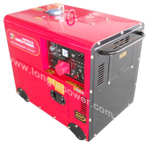 7.5kVA 220V Red Colour Three Phase Buckcasa Silent Diesel Generator pictures & photos