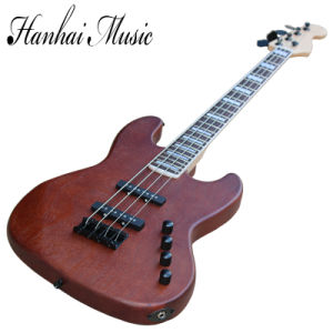 Hanhai Music/4 Strings Red Electric Bass Guitar with Black Hardware pictures & photos