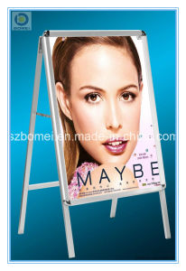 Aluminum Free Standing Poster Stand with Single Side. a Board