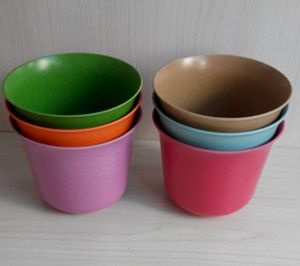 Eco Bamboo Fiber Garden Flower Pot (BC-F1018) pictures & photos