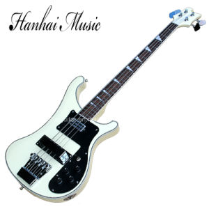 Hanhai Music / 4-String Electric Bass Guitar with Creamy White Body pictures & photos